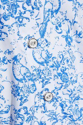 4c23be4d8d4dff ... CAROLINE CONSTAS Jolie off-the-shoulder printed cotton-blend poplin top  ...
