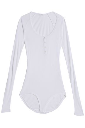 ALIX Horatio ribbed stretch-modal bodysuit