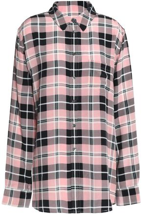 EQUIPMENT FEMME Checked silk top