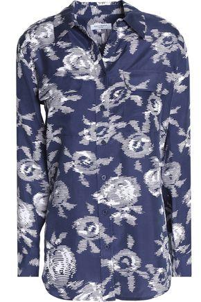 EQUIPMENT Printed silk top