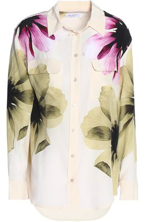 EQUIPMENT Printed silk top