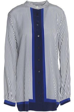 EQUIPMENT Paneled striped silk top