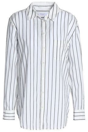 EQUIPMENT Striped cotton-poplin top