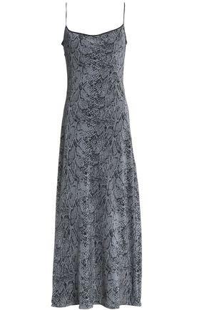 KATE MOSS EQUIPMENT Snake-print silk maxi dress