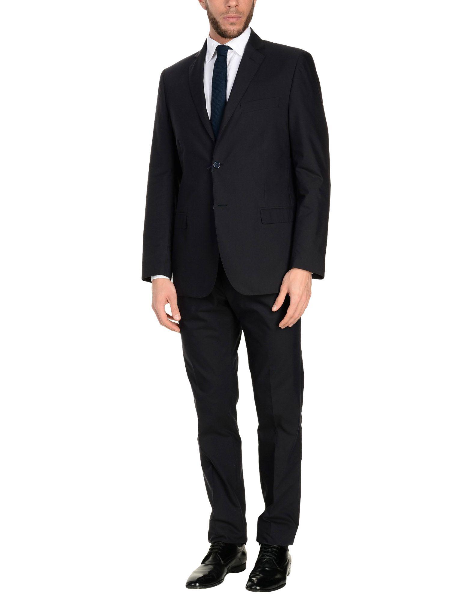 MONTEZEMOLO Suits in Dark Blue