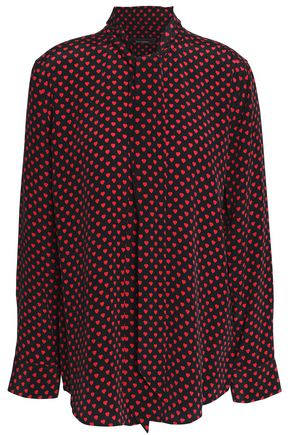 KATE MOSS EQUIPMENT Polka dot silk top