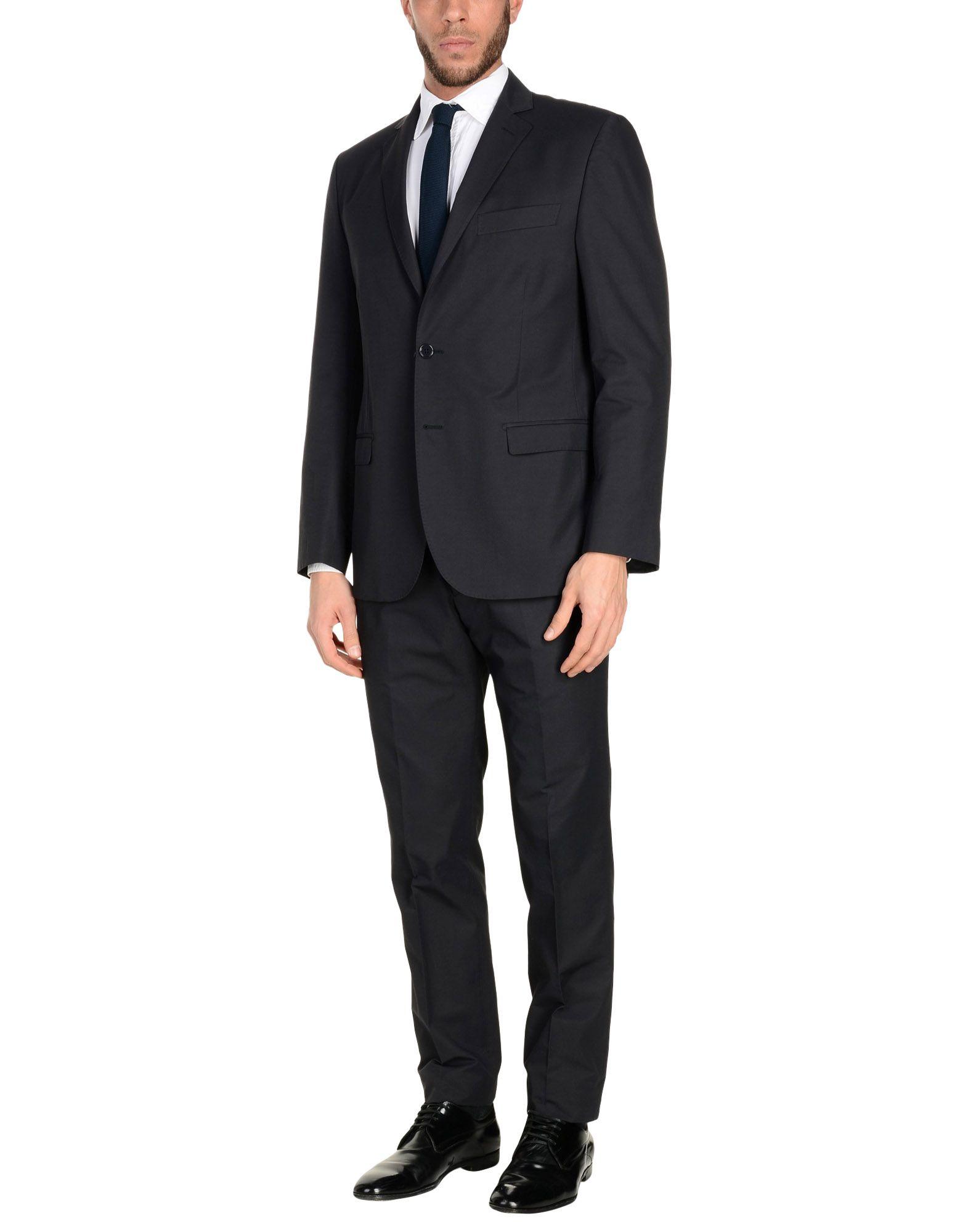 MONTEZEMOLO Suits in Steel Grey