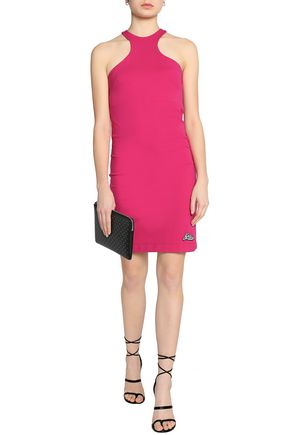 Clearance Online Amazon Love Moschino Woman Appliquéd Jersey Mini Dress Fuchsia Size 40 Love Moschino 2018 Cool Buy Cheap Prices For Sale Cheap Price From China DAOwIy