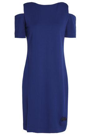 LOVE MOSCHINO Cold-shoulder crepe mini dress