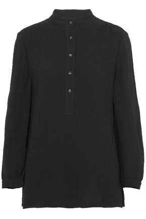 A.P.C. Gathered cloqué shirt