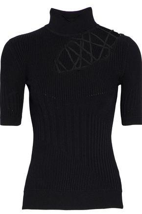 CUSHNIE ET OCHS Lattice ribbed-knit top