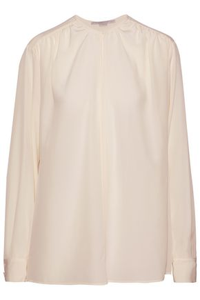 STELLA McCARTNEY Gathered silk top