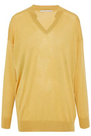 STELLA McCARTNEY Stretch-knit wool and silk-blend top