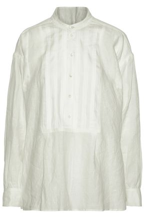 JOSEPH Pintucked linen tunic