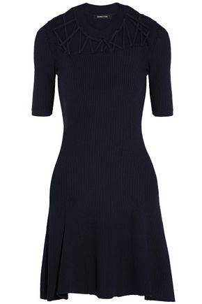 CUSHNIE ET OCHS Cutout ribbed-knit mini dress