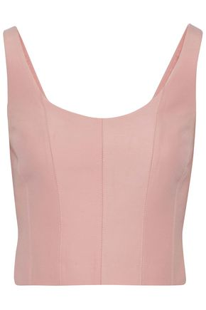 HALSTON HERITAGE Cotton and silk-blend top