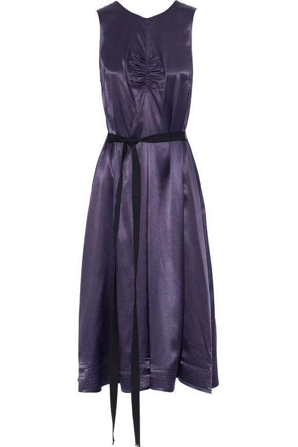 Joseph Woman Metallic Satin-crepe Dress Black Size 36 Joseph N43le