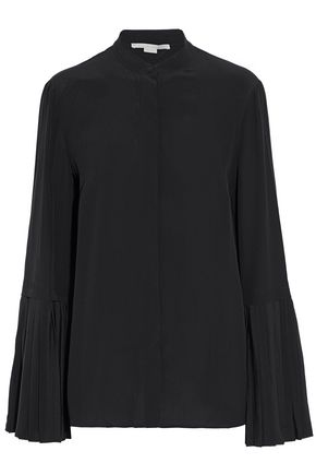 STELLA McCARTNEY Pleated silk crepe de chine blouse