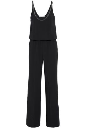 STELLA McCARTNEY Chain-embellished gathered crepe jumpsuit