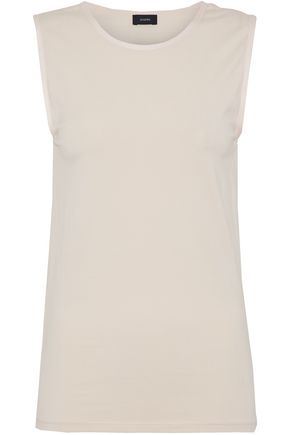 JOSEPH Satin-trimmed stretch-jersey  tank