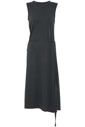 JOSEPH Stretch cotton-jersey wrap midi dress