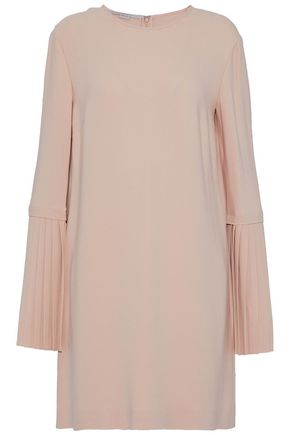 STELLA McCARTNEY Pleated crepe mini dress