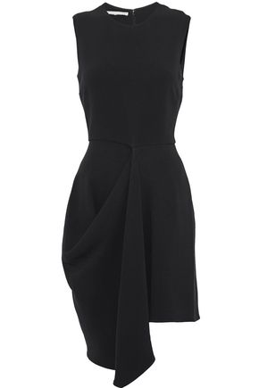 STELLA McCARTNEY Asymmetric draped crepe mini dress