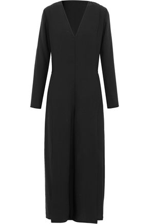 T by ALEXANDER WANG Cropped pleated crepe jumpsuit