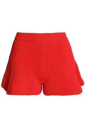 MM6 by MAISON MARGIELA Fluted ribbed-knit shorts