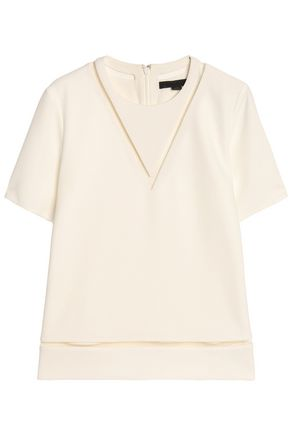 ALEXANDER WANG Laser-cut crepe top