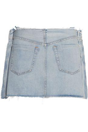 MM6 by MAISON MARGIELA Frayed denim mini skirt