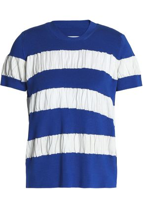 MM6 MAISON MARGIELA Gathered striped cotton top