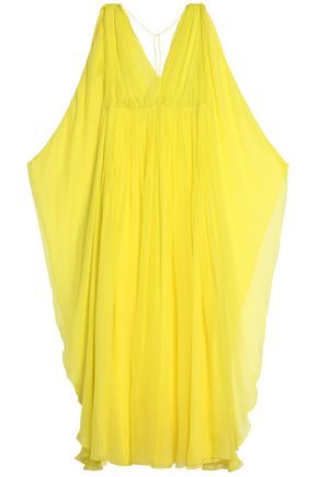 EMILIO PUCCI Draped silk-chiffon maxi dress