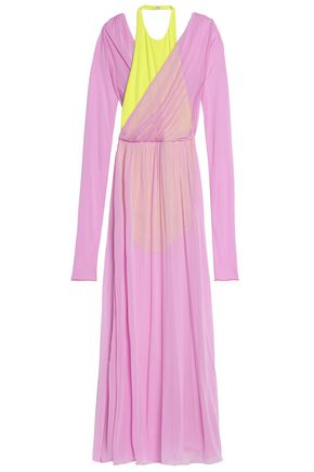 EMILIO PUCCI Two-tone layered jersey gown