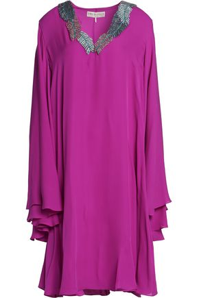 EMILIO PUCCI Embellished silk crepe de chine dress