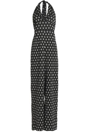 ANNA SUI Stretch-knit halterneck jumpsuit