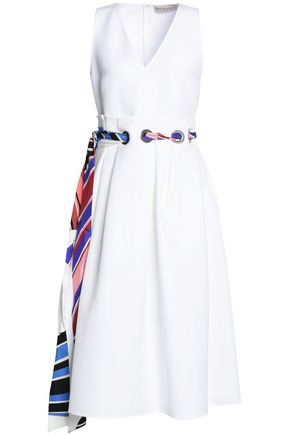EMILIO PUCCI Belted cotton and silk-blend midi dress