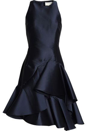 SACHIN & BABI Asymmetric ruffled taffeta dress