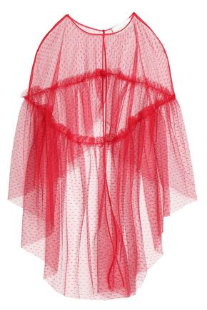 SACHIN & BABI Gathered tulle cape