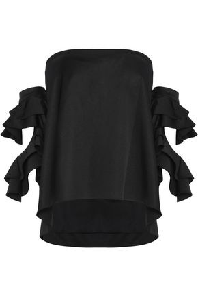 SACHIN & BABI Off-the-shoulder ruffled crepe top