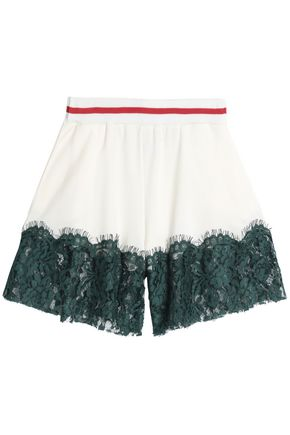 MM6 MAISON MARGIELA Panled lace and crepe shorts