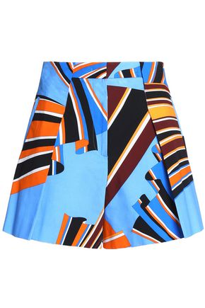 EMILIO PUCCI Printed cotton-poplin shorts