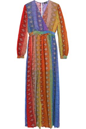 JUST CAVALLI Printed crepe gown