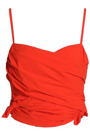 EMILIO PUCCI Cropped ruched crepe top