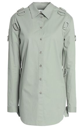 MM6 MAISON MARGIELA Buckle detailed cotton poplin top