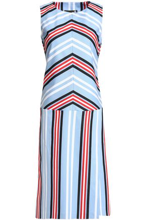 LOVE MOSCHINO Striped cotton poplin dress