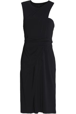 ALEXANDER WANG One-shoulder draped cady dress