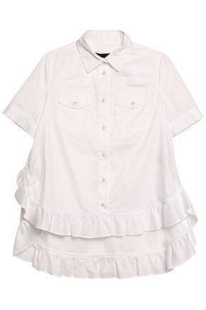 LOVE MOSCHINO Ruffled cotton top