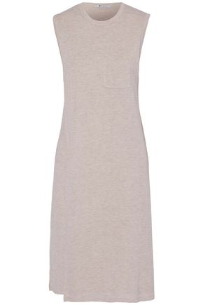 T by ALEXANDER WANG Layered mélange stretch-jersey dress