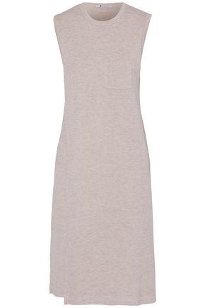 T by ALEXANDER WANG Layered mélange stretch-jersey dress